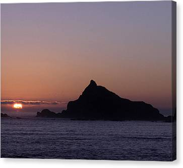 Canvas Print featuring the photograph Castle Rock Sunset by Betty Depee
