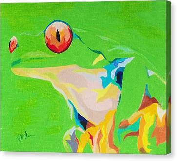 Catch A Red Eye Canvas Print by Steve Teets