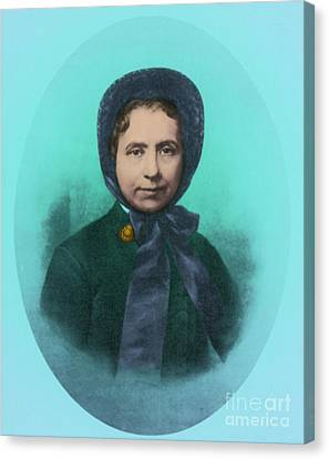 Salvation Army Canvas Print - Catherine Booth, Co-founder Salvation by Photo Researchers