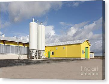 Cattle Feeding Tanks Canvas Print by Jaak Nilson