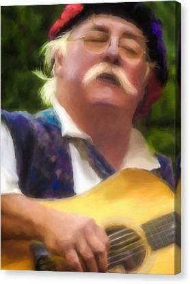 Celtic Folk Singer Canvas Print by Jill Balsam