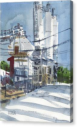 Cement Hopper Canvas Print by Donald Maier