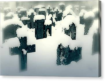 Cemetery Canvas Print by Joana Kruse
