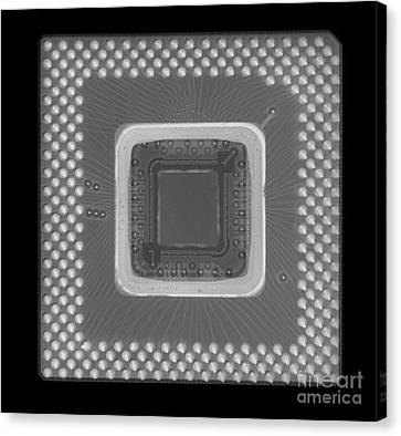 Central Processor Canvas Print by Ted Kinsman