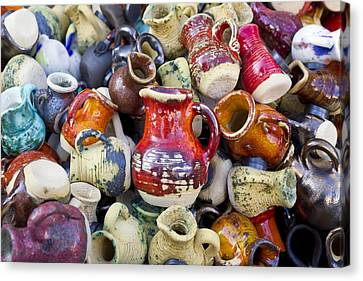 Ceramic  Jugs And Cups  Canvas Print