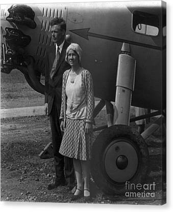 Charles Lindbergh, American Aviator Canvas Print by Photo Researchers