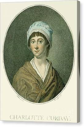 Charlotte Corday Canvas Print by Granger