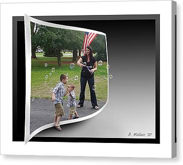 Canvas Print featuring the photograph Chasing Bubbles by Brian Wallace