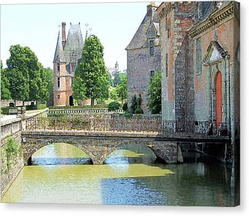 Chateu Carrouges Normandy France Canvas Print by Joseph Hendrix