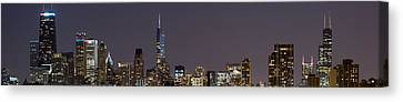 Sky Line Canvas Print - Chicago Lights by Twenty Two North Photography