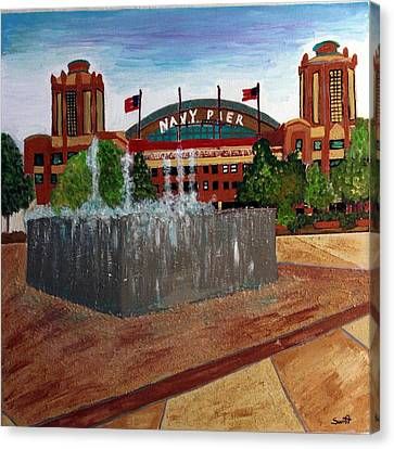 Chicago Navy Pier Canvas Print by Char Swift