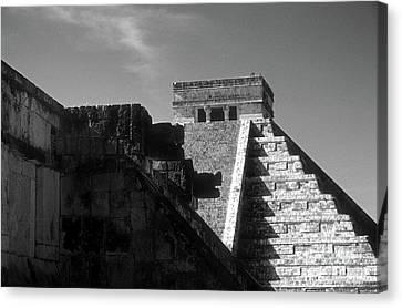 Chichen Itza Ruins Yucatan Mexico Canvas Print by John  Mitchell