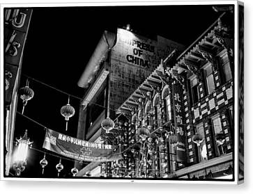 Chinatown At Night Canvas Print by Tanya Harrison