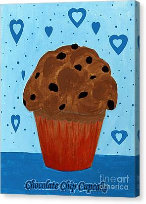 Chocolate Chip Cupcake Canvas Print by Barbara Griffin