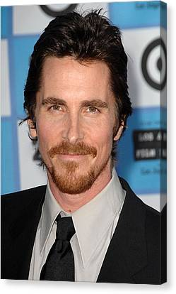 Christian Bale At Arrivals For 2009 Los Canvas Print by Everett