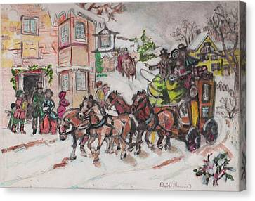 Christmas Buggy Canvas Print by David Garren