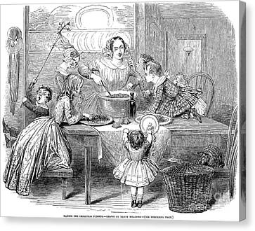 Christmas Pudding, 1848 Canvas Print by Granger