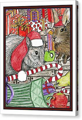 Christmas Treats Canvas Print by Marla Saville