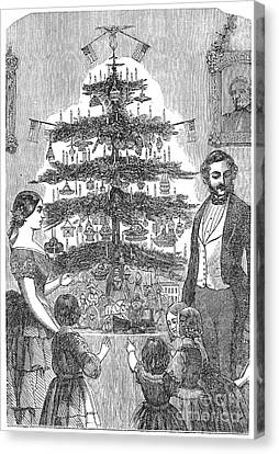 Christmas Tree, 1864 Canvas Print by Granger