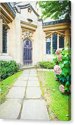 Medieval Entrance Canvas Print - Church Door by Tom Gowanlock