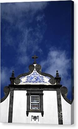 Church In Azores Islands Canvas Print by Gaspar Avila