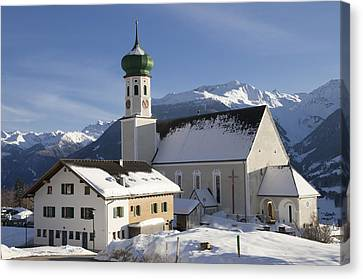 Church In Winter Canvas Print by Matthias Hauser