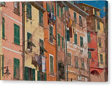 Cinque Terre Colorful Homes Canvas Print by Brandon Bourdages