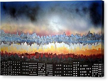 City Never Sleeps Canvas Print by Robert Handler