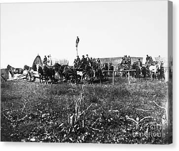 Civil War: Telegraph, 1864 Canvas Print by Granger