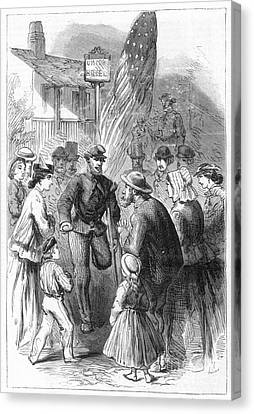 Civil War: Veteran, 1867 Canvas Print by Granger