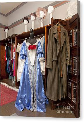 Classic Fashions In A Closet Canvas Print