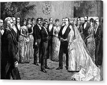 Cleveland Wedding, 1886 Canvas Print by Granger