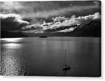 clouds over the Lake Maggiore Canvas Print by Joana Kruse