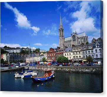 Cobh Cathedral & Harbour, Co Cork Canvas Print by The Irish Image Collection