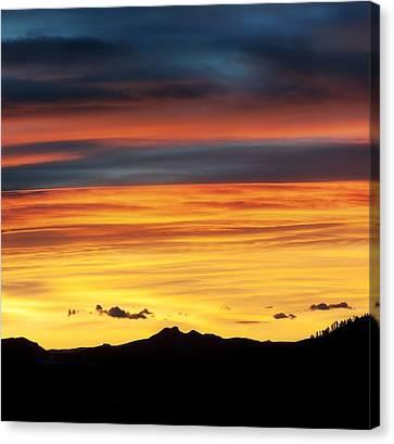 Tebow Canvas Print - Colorado Sunrise by Beth Riser