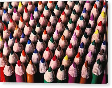 Colored Pencils Canvas Print by Garry Gay