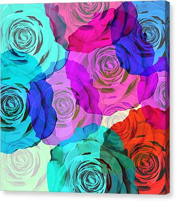 Colorful Roses Design Canvas Print by Setsiri Silapasuwanchai