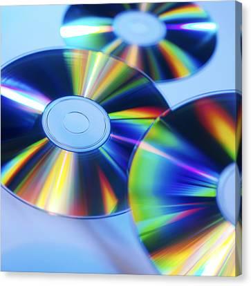 Compact Discs Canvas Print by Tek Image