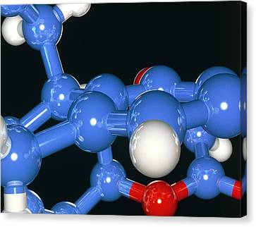 Computer Artwork Of Part Of A Molecule Canvas Print by Laguna Design