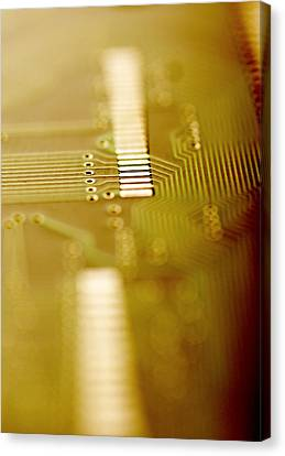 Computer Circuit Board Canvas Print by Tim Vernonlth Nhs Trust