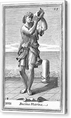 Conch Shell Trumpet, 1723 Canvas Print by Granger