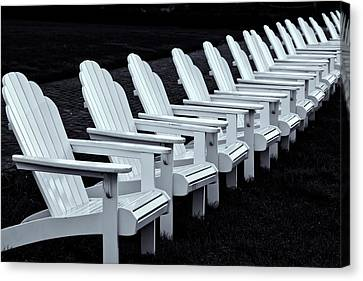Canvas Print featuring the photograph Congress Hall Chairs by Tom Singleton