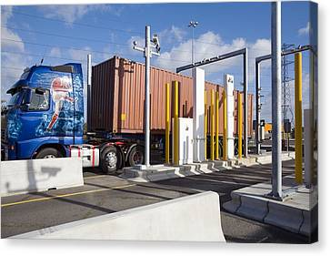 Container Port Security Canvas Print by Paul Rapson
