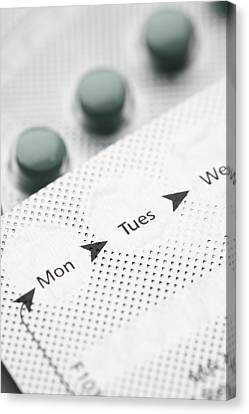 Lif Canvas Print - Contraceptive Pills by Jon Stokes