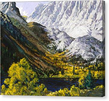 Convict Lake Canvas Print by Mark Lunde