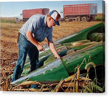 Corn Harvest Canvas Print by Hans Droog