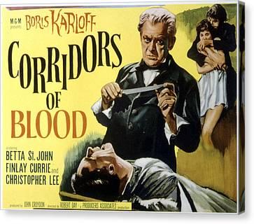 Corridors Of Blood, Boris Karloff, 1958 Canvas Print by Everett