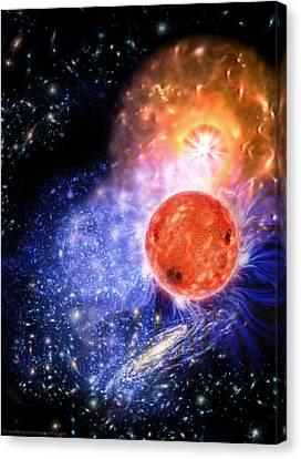 Cosmic Evolution Canvas Print by Don Dixon