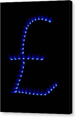 Cost Of Gas, Conceptual Image Canvas Print by Victor De Schwanberg