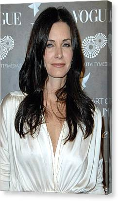 Courteney Cox Arquette At Arrivals Canvas Print by Everett